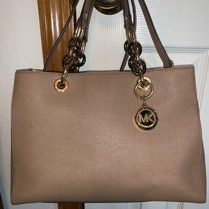 Michael Kors Cynthia saffiano leather satchel
